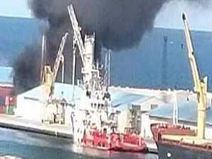 استهداف سفينة الأسلحة التركية