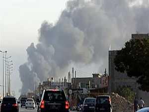 انفجار بالأكاديمية البحرية غرب طرابلس