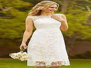 9006674876dd0 بالصور  أجمل فساتين زفاف قصيرة مناسبة للصيف