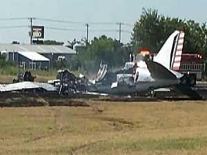 تحطم طائرة في مطار تكساس بأمريكا
