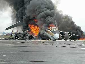 سقوط طائرة عسكرية