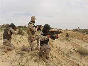 صورة للعمليات العسكرية بسيناء