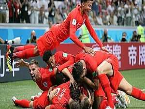 فرحة انجلترا بالفوز على تونس