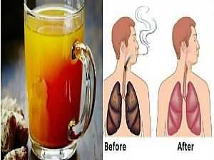 مشروب ينظف الرئة من السموم