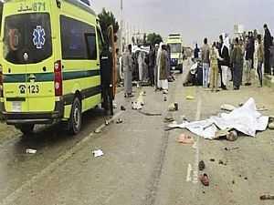 مصرع 5 وإصابة 60 شخصاً في حادث تصادم أتوبيسين بطريق القطامية - السخنة