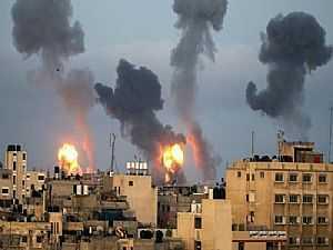 إسرائيل تشتعل نتيجة صواريخ غزة