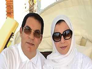 زين العابدين بن علي وزوجته