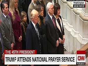 شاهد.. تلاوة القرآن في كاتدرائية واشنطن بحضور ترامب