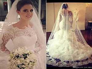 624af393b0e7e لعروس العيد.. أجمل إطلالات فساتين الزفاف لعام 2016